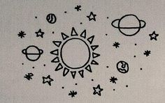 solar system doodle ((: