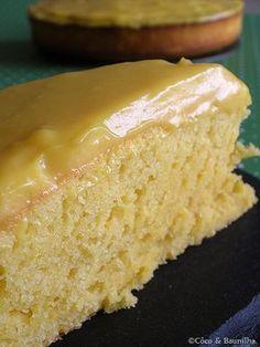 bolo de laranja com cobertura de creme de laranja