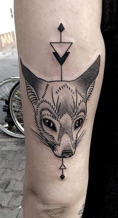 Animal Geometric tattoo by Mirja Fenris.
