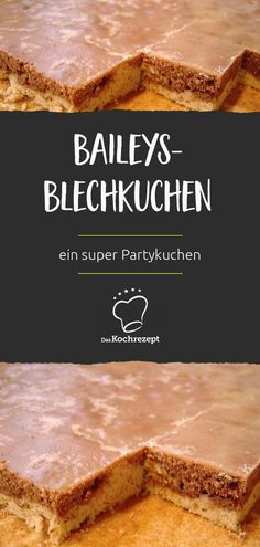 Baileys und Kuchen in einem – einfach himmlisch! Die Leckerei vom Blech ist auch… Baileys and cake in one – just heavenly! The treat of the tin is also a great party cake and it takes just 20 min. Meat Recipes, Cake Recipes, Snack Recipes, Healthy Eating Tips, Healthy Snacks, Mousse Au Nutella, Baileys Cake, Pecan Cake, Party Cakes