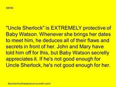 The difference between Sherlock and Mycroft is that Sherlock would just tell the date off to his/her face but Mycroft would secretly go behind the scene and dig up any and all dirt