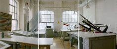 and a silk screen studio like this and