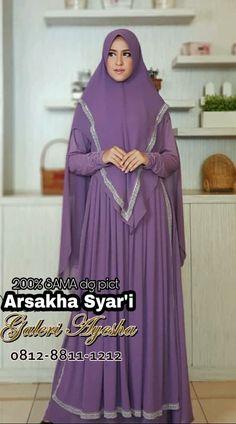 Gamis Pesta Syar'i Arsakha Syari Dress (Ready Stock Dan Made By Order) Muslim Fashion, Hijab Fashion, Fashion Outfits, Juki, Islamic Clothing, Scarfs, Clothes, Beauty, Dresses