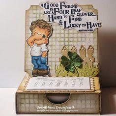 "Notizzettel-Easel-Kalender-Box ""See no Evil Edwin"""