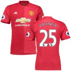 Antonio Valencia Manchester United adidas 2016/17 Authentic Home Jersey - Red - $144.99
