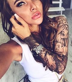 40 Attractive Sleeve Tattoos For Women Tattoos On Women