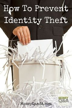 Identity theft is on the rise in America with millions who are affected every year, but you can prevent identity theft with these five tips. Ways To Save Money, Money Tips, Money Saving Tips, How To Make Money, Money Savers, Money Market, Identity Theft, Managing Your Money, Finance Tips