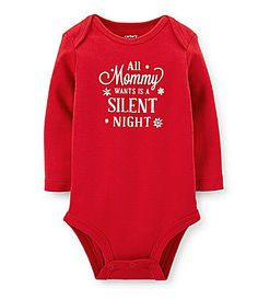 Carters Newborn24 Months All Mommy Wants is a Silent Night Christmas  Bodysuit  Dillards Toddler Outfits c7f394d670ab