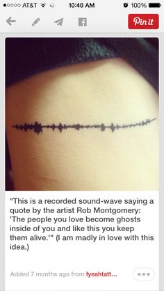 """Husband's sound wave from him saying """"I love you"""" or something else meaningful."""