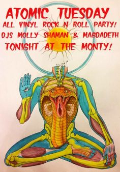Atomic Tuesdays will go boom in a big way tonight with DJ Molly Shaman and DJ Magdadeth spinning an all vinyl set of the killer jamz! No cover, they're on at 10! #DTLA