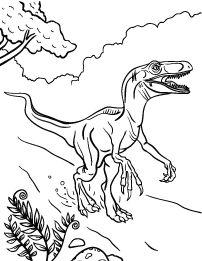ausmalbilder jurassic world | dinosaurier malvorlage