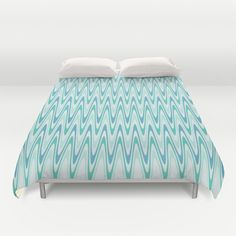 Blue and Green Waves Duvet Cover by KCavender Designs - $99.00 #Duvet #Cover #Bedding #Bedroom #Decor By #KCavenderDesigns