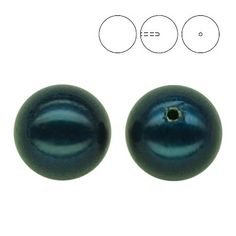 5818 10mm Petrol Pearl - 1 hole  Dimensions: 10,0mm Colour: Crystal Petrol Pearl 1 package = 1 piece