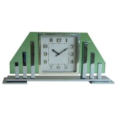 "cgmfindings:  "" Swiss 8 day chrome plated Art Deco clock by Buren  """