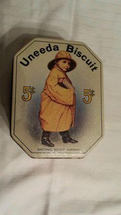 Antique!! Uneeda biscuit tin! Nbc, nabisco