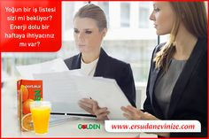 Yoğun bir iş listesi sizi mi bekliyor? Enerji dolu bir haftaya ihtiyacınız mı var?  #GoldenMeyveSuyu
