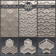 models: Other decorative objects - Gypsum panel 3d Wall Tiles, 3d Wall Panels, Design System, Gypsum, Loft Design, Panelling, Frames On Wall, Decorative Objects, Pattern Art