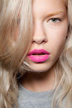 Magenta pink lips   Giles Spring Summer 2013 #makeup