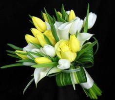 Yellow Tulip Wedding Bouquet | Nature Nook Weddings