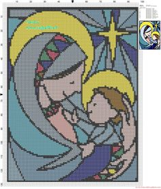 Maria e Jesús patron punto de cruz