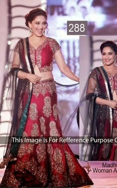 Madhuri Bollywood Collections-Red-SMT288-VR-Georgette