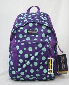 Jansport Wasabi Laptop Backpack - Purple Night / Mint to Be Green Sylvia Dot JanSport http://www.amazon.com/dp/B00IIW9RZG/ref=cm_sw_r_pi_dp_3Tw0tb0H6RACD4CT