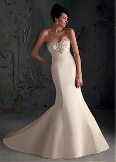 CHIC CHIFFON A-LINE SWEETHEART NECKLINE WEDDING DRESS WITH BEADED EMBROIDERIES FORMAL PROM EVENING PARTY GOWN