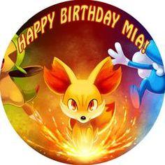 Pokemon 1 Edible Birthday Cake Topper OR Cupcake Topper, Decor - Edible Prints On Cake (Edible Cake &Cupcake Topper)