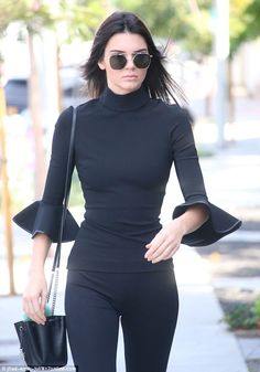 Remarkably polished: Kendall Jenner proved she wasn't going to let her hangover get to her on Saturday morning - the night after Olivier Rousteing's birthday bash