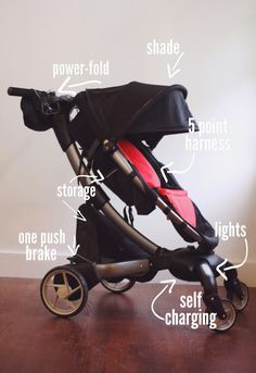 @4moms Origami Stroller -- charges your cell phone and charges itself!