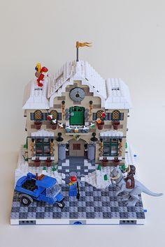Lego Christmas Sets, Lego Gingerbread House, Casa Lego, Lego Winter Village, Building Drawing, Lego Modular, Lego Worlds, Lego Architecture, Everything Is Awesome