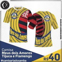 Camisa Meus dois Amores - Tijuca e Flamengo
