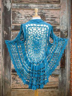 Crochet Patterns - Flora Circle Vest