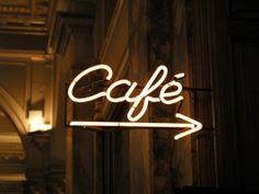 """enseigne lumineuse néon café / illuminated sign, neon sign """"café"""" coffee bar"""