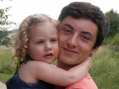 Father and curly blonde toddler daughter - a peaceful loving pair.  #SilentSunday & #MySundayPhoto 13th July 2014
