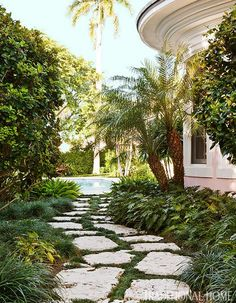path stones...Colorful Coastal Home - Traditional Home®