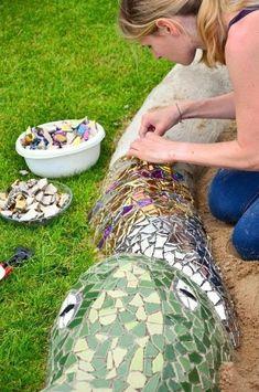 Caja de arena de mosaico -