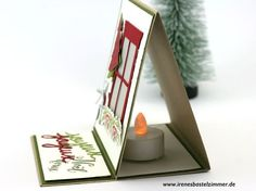 Thinlits Trautes Heim_Teelichtkarte_Aufstellkarte Cute Christmas handmade Greeting card
