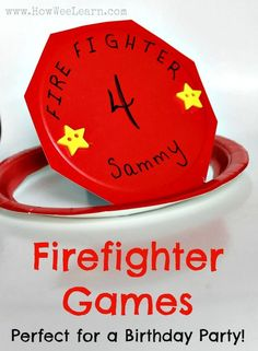 This is the ultimate firefighter themed birthday party for kids. These games are so clever!