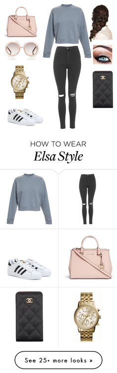 """Untitled #1"" by explorer-14501091809 on Polyvore featuring Acne Studios, Topshop, adidas, Disney, Michael Kors, Chloé and Chanel"