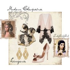 Modern Cleopatra: Lingerie, created by trulygirlygirl on Polyvore