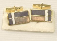 Check out the deal on Sophisticated German Matte Enamel Cufflinks Signed SCHOLTZ and LAMMEL at Amazing Adornments