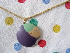 new hand painted wooden necklace available soon in my etsy shop! http://polkadotscloud.etsy.com #handmade #etsy #diy #craft # pinkrain