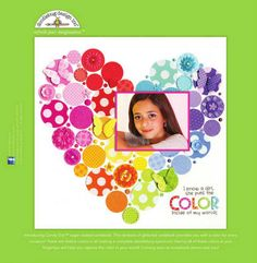 Doodlebug Design Ad:  I Know A Girl. She Puts The Color Inside Of My World.