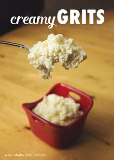 Easy breakfast recipe for creamy grits; so simple AND kids actually eat them!