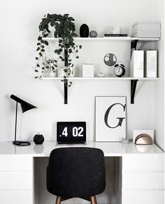 DIY Desk Accessories, Home Accessories, Shop domino for the top brands in home decor and be inspired by celebrity homes and famous interior designers. domino is your guide to living with sty. Study Room Decor, Room Ideas Bedroom, Bedroom Decor, Bedroom Wall, Wall Decor, White Desk In Bedroom, White Desk Diy, White Desk Decor, Ikea Room Ideas