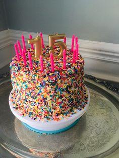 15th Birthday Party Ideas, Birthday Goals, 14th Birthday, Pretty Birthday Cakes, Pretty Cakes, Cute Cakes, Bday Girl, Let Them Eat Cake, Cake Designs