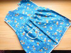 Sweet Vintage Toddler Girl Cotton Pinafore by VintageZipper