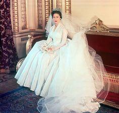 Princess Margaret (sister to Queen Elizabeth II) on her wedding day.