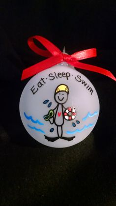 Swimmers, Christmas ornament and Swim on Pinterest